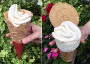 炭酸煎餅ソフトクリーム